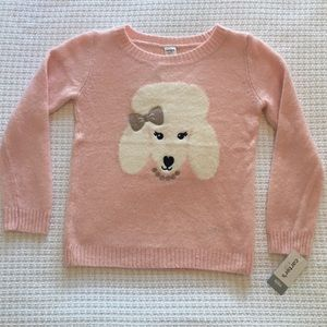 CARTERS PINK PUPPY Sweater Sz 6/6X.  So sweet!
